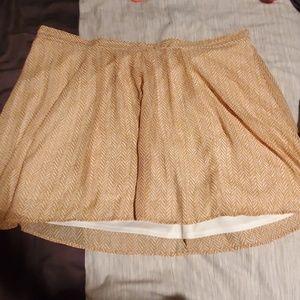 Mustard yellow a-line mini skirt